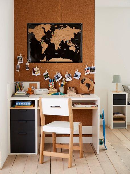 Bureau junior LIGNE REGLISSE blanc/gris fonce