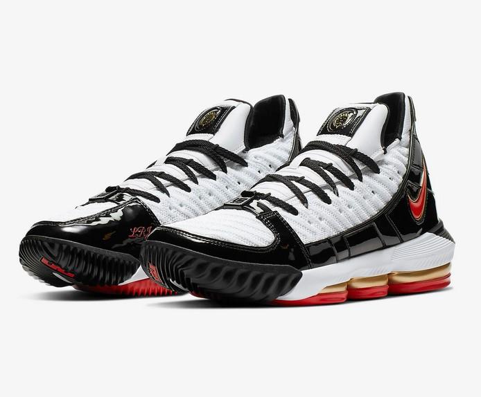Nike LeBron 16 SB Blanc/Noir/Rouge comète pour Homme