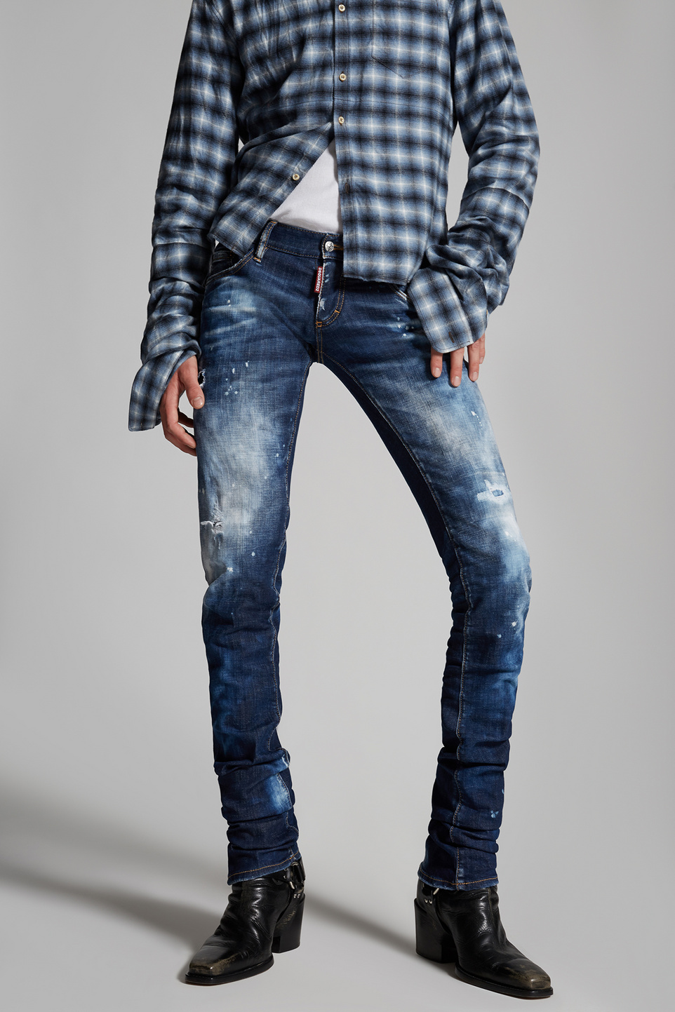Dsquared2 Cloudy Wash Sharpei Jeans Bleu