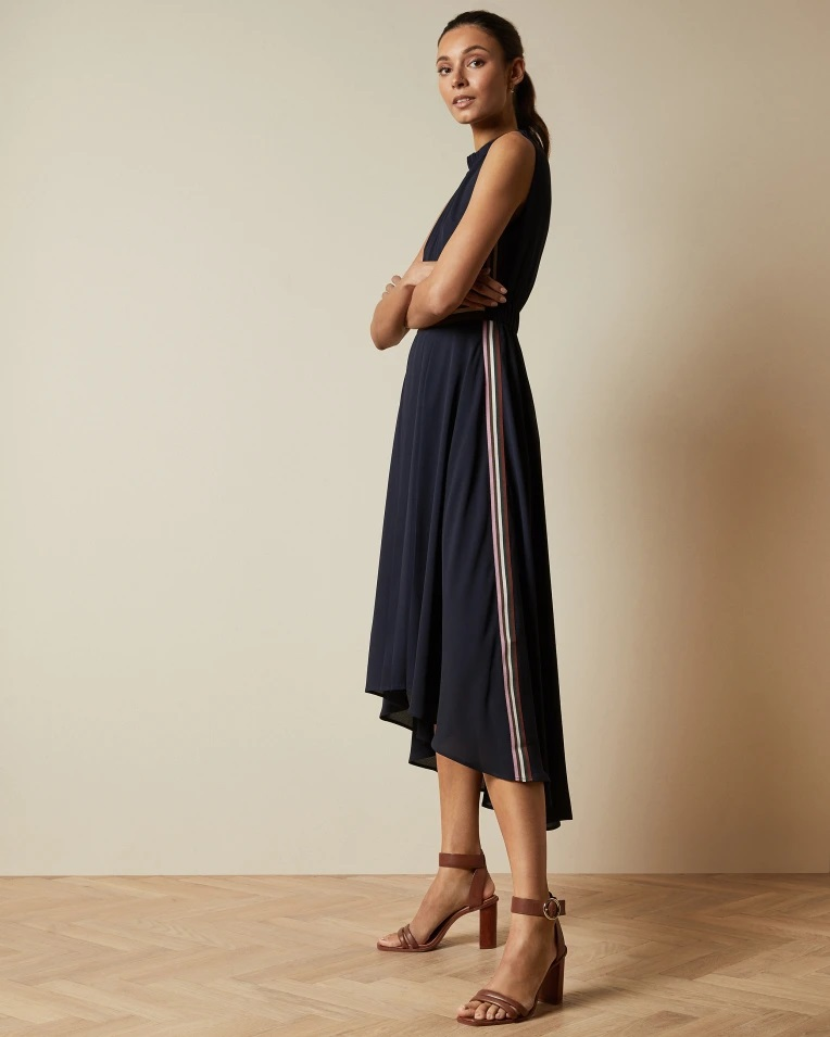 Ted Baker DAMSIA Robe ourlet plongeant sans manches