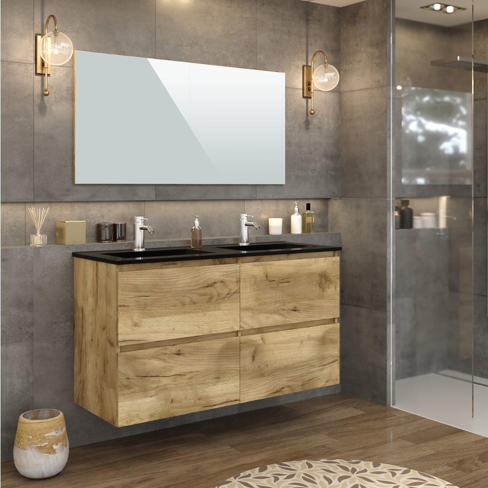 Meuble de salle de bain 20 cm GALAPAGOS pas cher - Meuble De