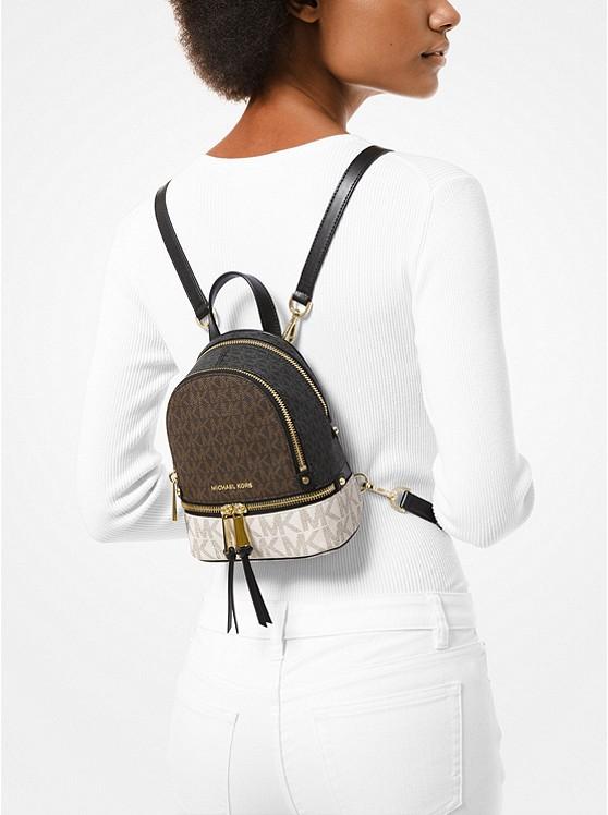 MICHAEL Michael Kors Mini sac à dos Rhea à couleurs contrastées ...
