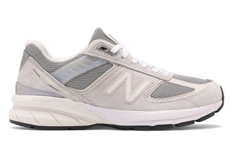 New Balance Made in US 990v5 Baskets Basses Nimbus Cloud with Silver