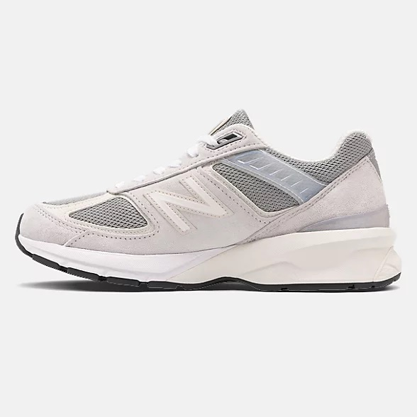 New Balance Made in US 990v5 Baskets Basses Nimbus Cloud with Silver pour Femme