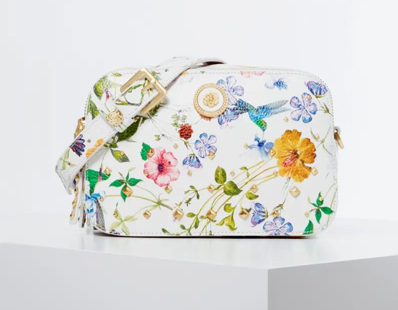 CAMERA BAG SAPPHIRE CUIR VÉRITABLE LUXE GUESS Fantaisie Florale