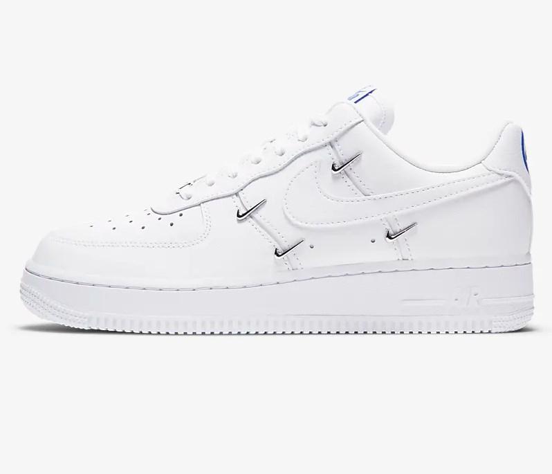 Nike Air Force 1 '07 LX Blanc/Hyper royal/Noir/Blanc - Baskets ...
