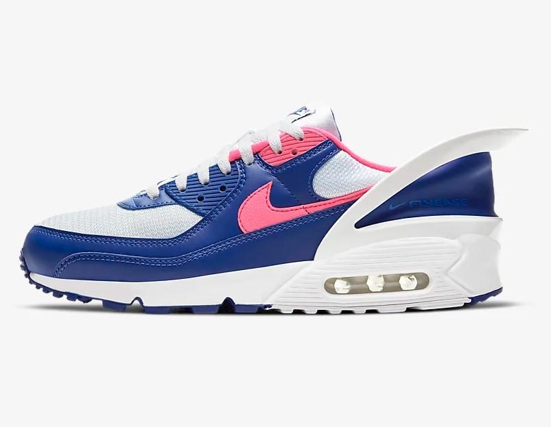 chaussure femme nike air max 90 blanche bleu royal buy clothes ...