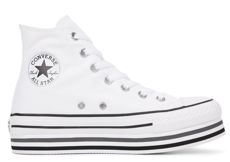 Converse Chuck Taylor All Star Platform High Top Blanches