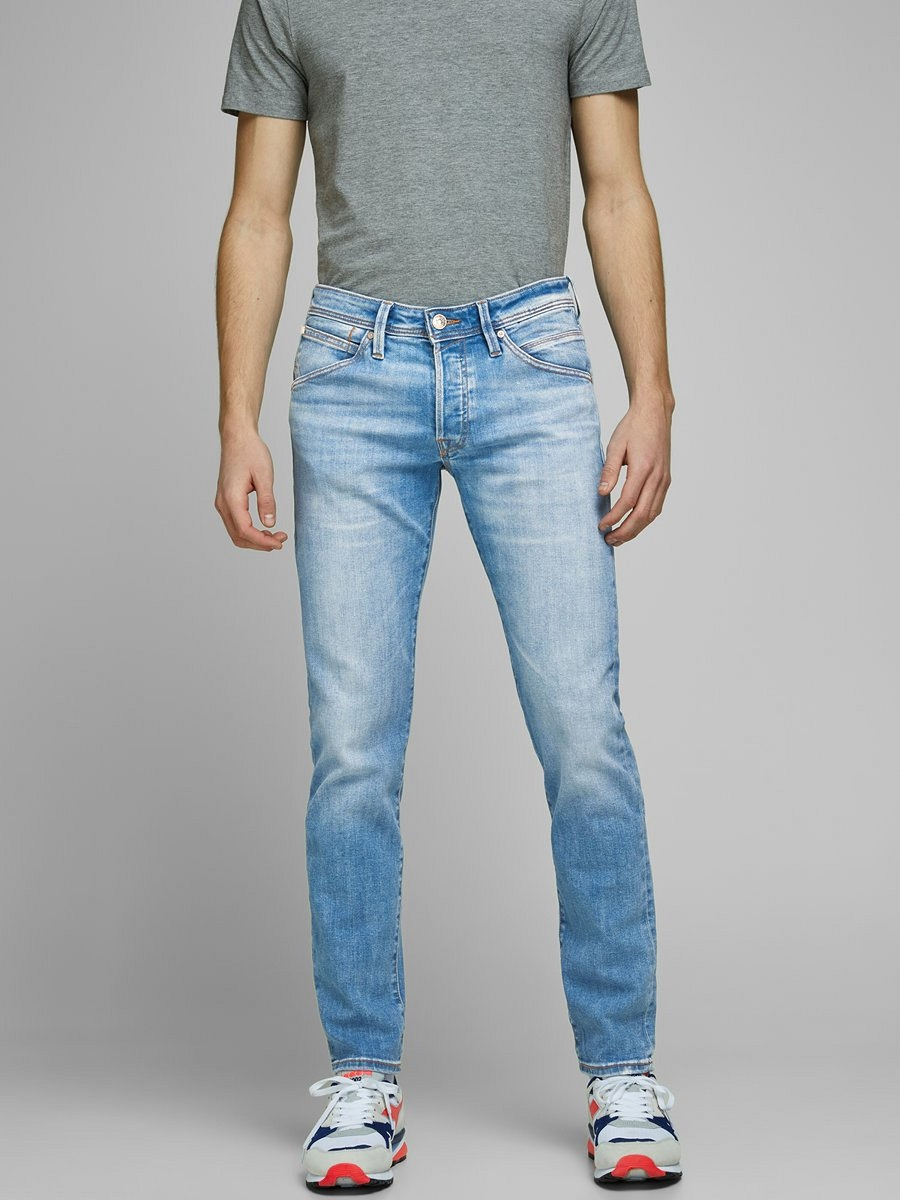 Jack & Jones GLENN FOX AM 967 JEAN SLIM Blue / Blue Denim