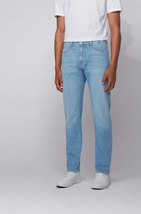 HUGO BOSS Maine3 Jean Regular Fit en denim italien bleu clair