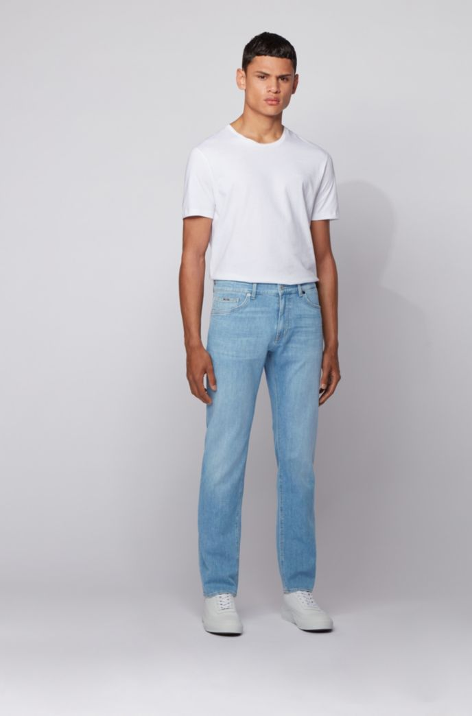 BOSS Maine3 Jean Regular Fit en denim italien bleu clair
