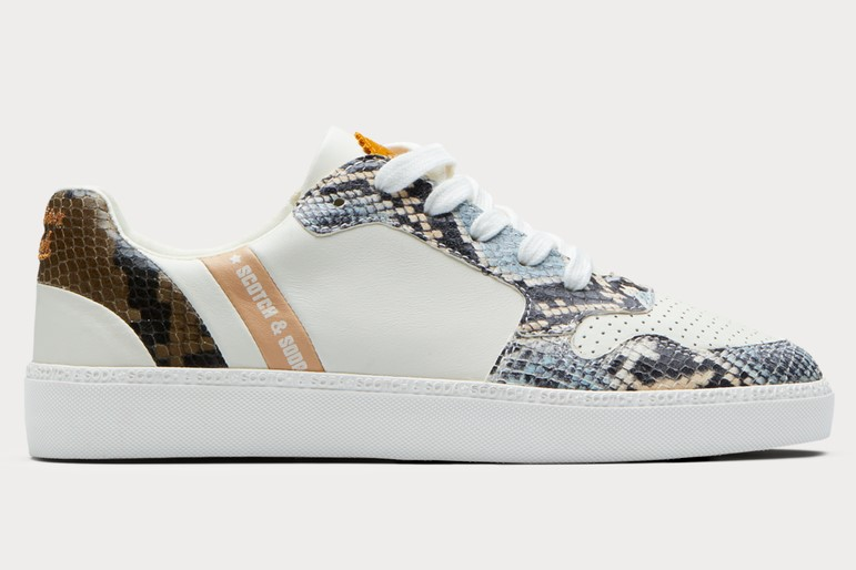 Scotch & Soda Laurite Sneakers effet serpent cream snake