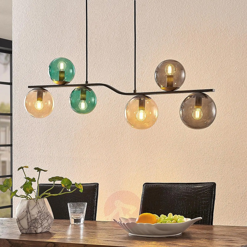 Lindby Avalyn Suspension multicolore noire