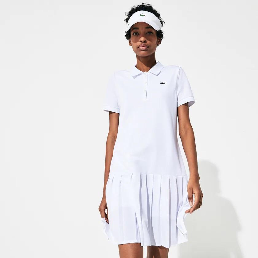 Robe polo Lacoste SPORT plissée Édition Roland Garros