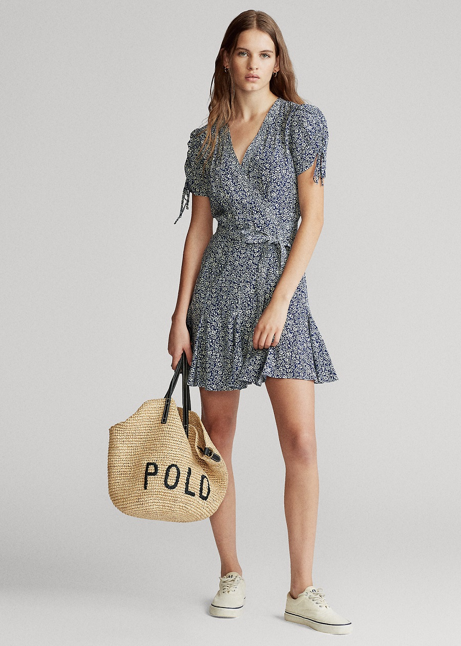 Polo Ralph Lauren Robe portefeuille fleurie Sprouting Flower