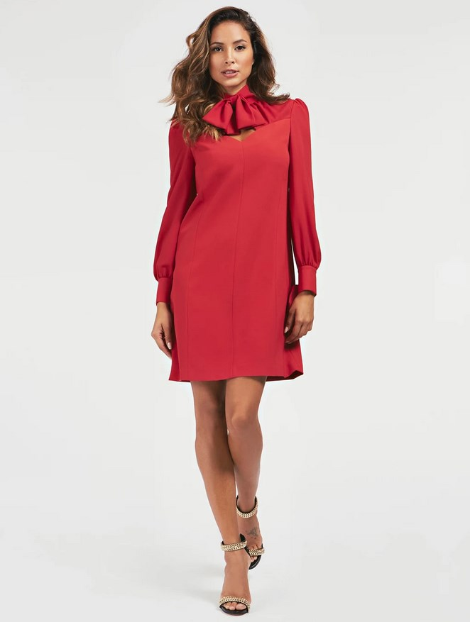 ROBE TISSU CONTRASTANT MARCIANO Guess Rouge
