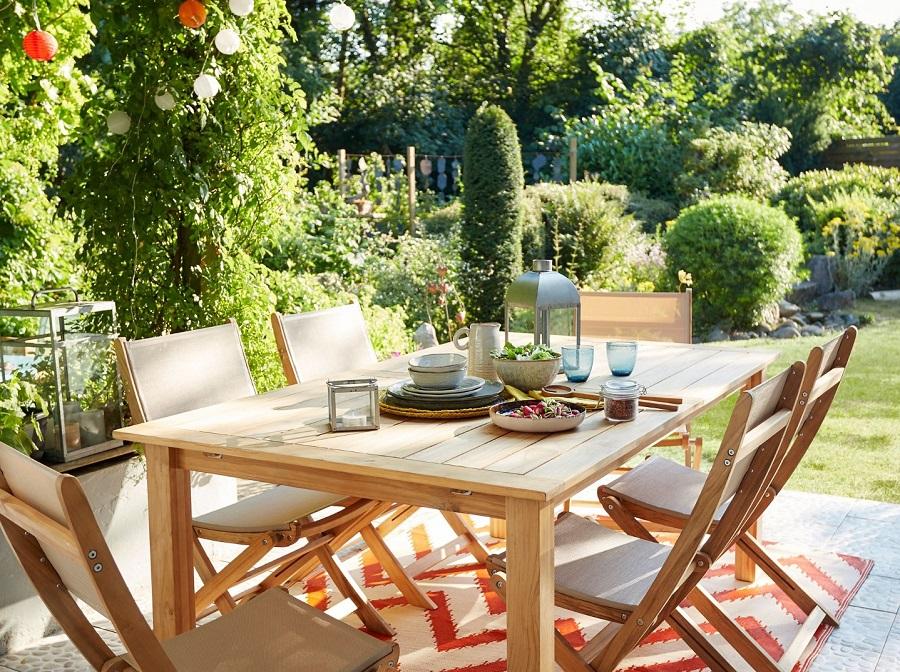 Table De Jardin En Metal Tanna Blooma Table De Jardin Castorama