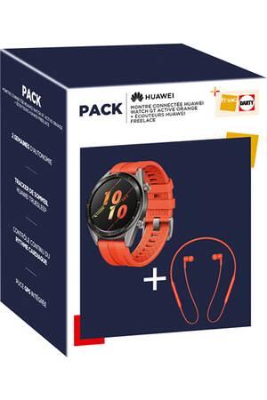 Montre Connectée pas cher - Le pack Huawei Watch GT Active + écouteur FreeLace à 200 Euros