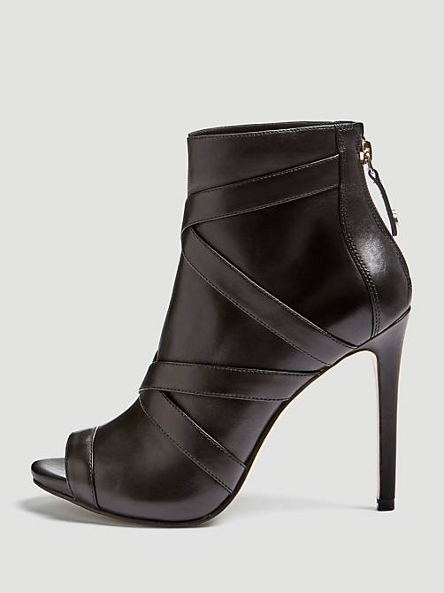 BOTTINES ADALIND CUIR VERITABLE Noir Guess