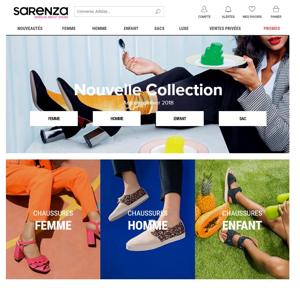 2488f131d2cb Sarenza Chaussure homme, chaussure femme, chaussure enfant, botte... Grâce  aux partenariats noués avec plusieurs dizaines de grandes marques de  chaussures, ...