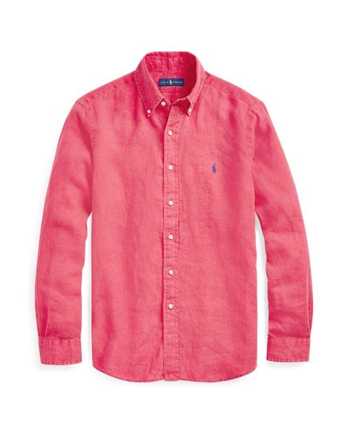 Polo Ralph Lauren Chemise cintrée en lin Rouge bermuda pour Homme