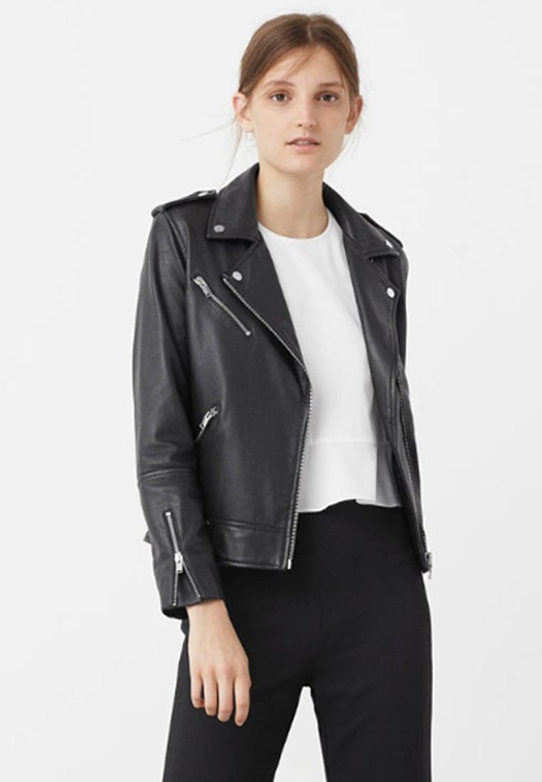 Mango TRIBECA Veste en cuir black Veste Femme Zalando