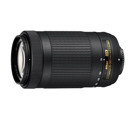 Deux téléobjectifs 70-300 mm Nikon DX, l'un stabilisé, l'autre pas.