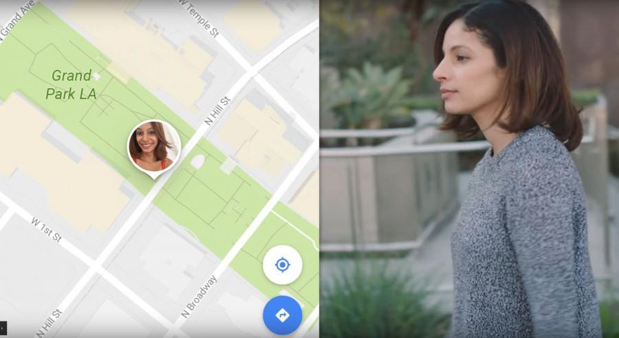 Google Maps autorise le partage de la position en temps réel