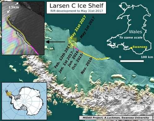 En Antarctique, un iceberg géant est sur le point de se détacher