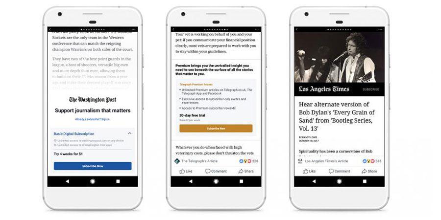 Facebook veut aider la presse en ligne à se faire des abonnés
