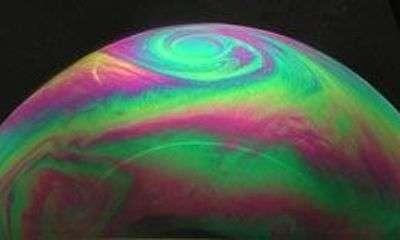 Les ouragans simulés... dans une bulle de savon