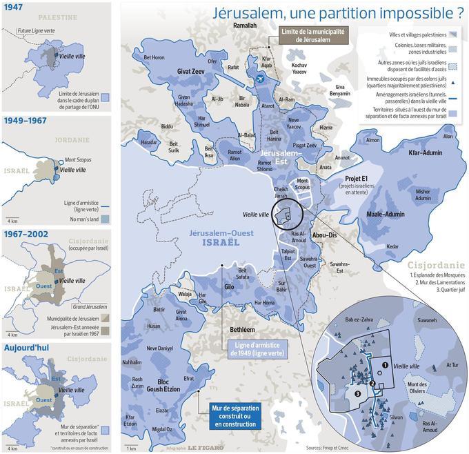 Jérusalem, l'un des points les plus épineux du conflit israélo-palestinien - Le Figaro