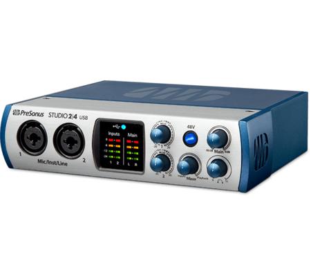 PreSonus dévoile la Studio 2|4, une petite carte son avec USB-C