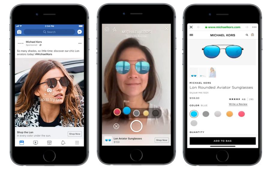 Les publicités en réalité augmentée débarquent sur Facebook