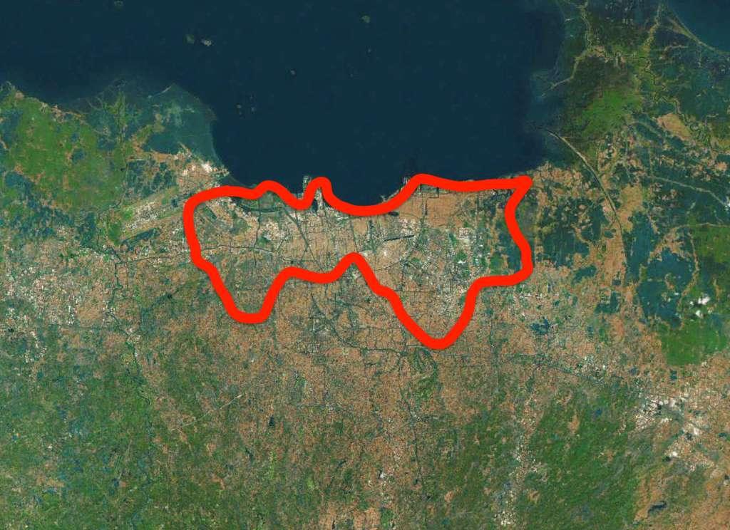 Jakarta a le triste record d'enfoncement sous le niveau de la mer