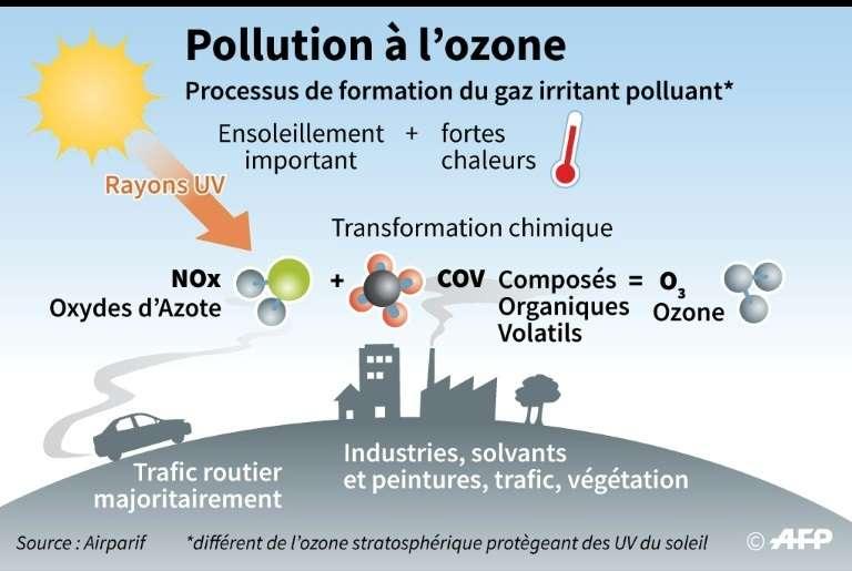 Canicule : une pollution à l'ozone toxique pour l'Homme