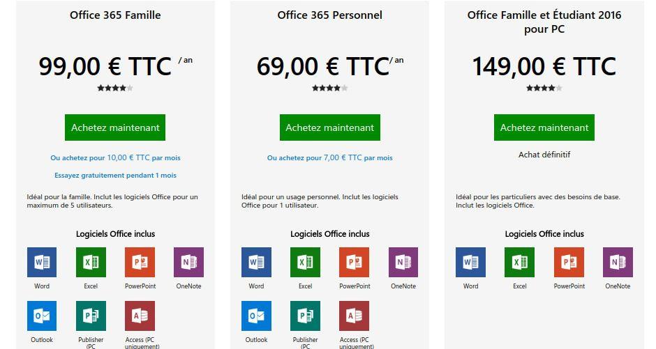 Office 365: des installations illimitées et jusqu'à six utilisateurs