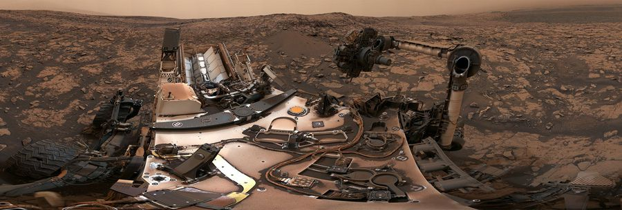 L'impressionnant panorama de Curiosity à Vera Rubin Ridge sur Mars