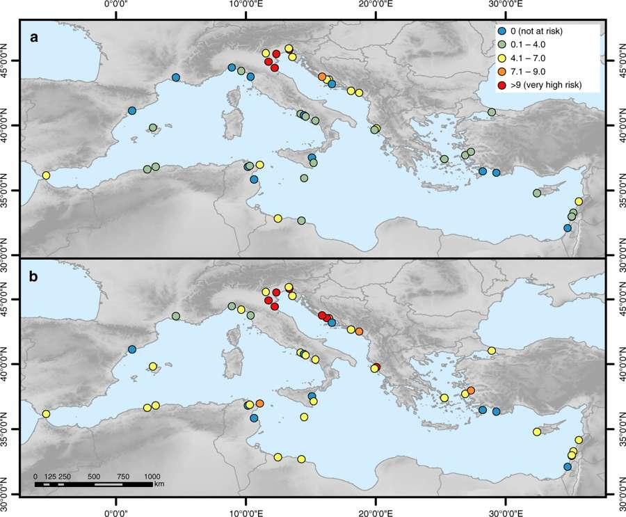 Méditerranée : la quasi-totalité des sites Unesco menacés par le réchauffement climatique