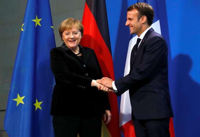 A Berlin, Macron souhaite une relance de l'Europe pour éviter un «chaos» mondial