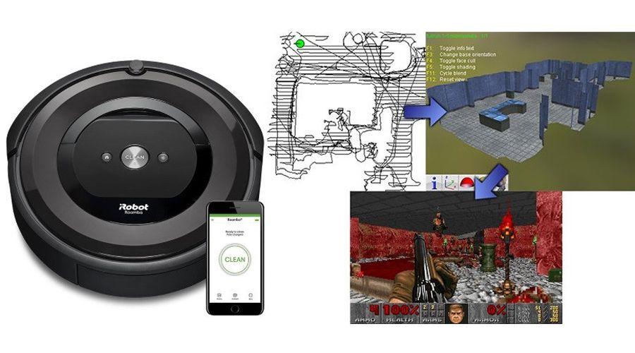 Des niveaux de Doom créés à l'aide d'un aspirateur-robot Roomba 980