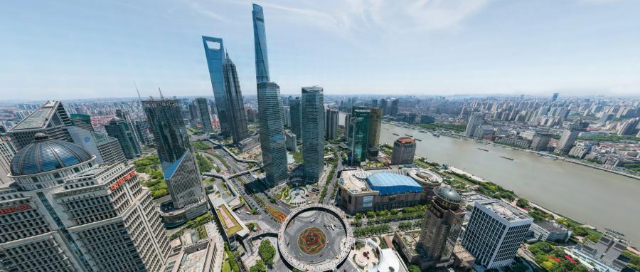 Une vue à 360° de Shanghai avec 195 milliards de pixels