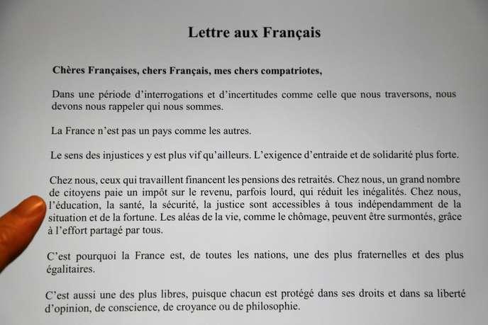 Quatre grands thèmes et «des questions essentielles»: la lettre d'Emmanuel Macron aux Français