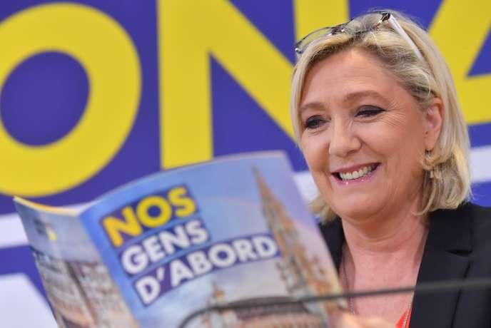 A Bruxelles, Marine Le Pen en campagne avec le parti d'extrême droite flamand Vlaams Belang