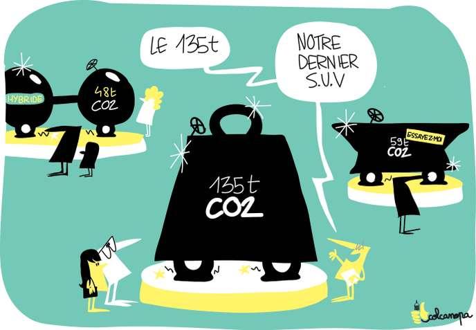 Les voitures vendues en2018 laisseront une empreinte carbone de 4,8gigatonnes de CO2