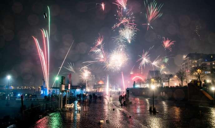 En Allemagne, l'engouement pour les feux d'artifice du Nouvel An fait débat