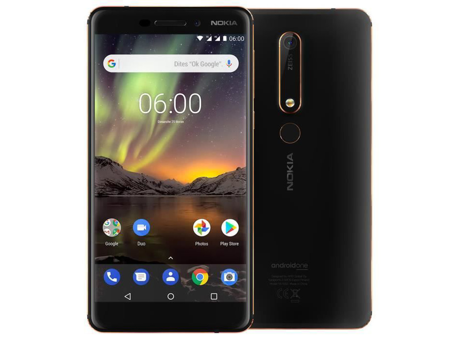 Le smartphone Nokia 6.1, sous Android One, à 199 €