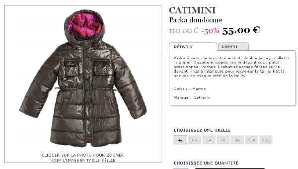 Doudoune Catimini