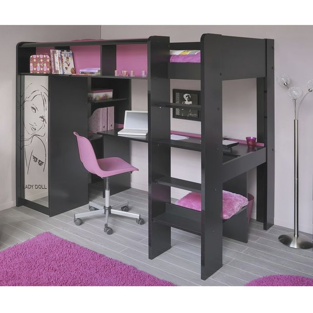 ladolly lit mezzanine lit mezzanine mistergooddeal. Black Bedroom Furniture Sets. Home Design Ideas