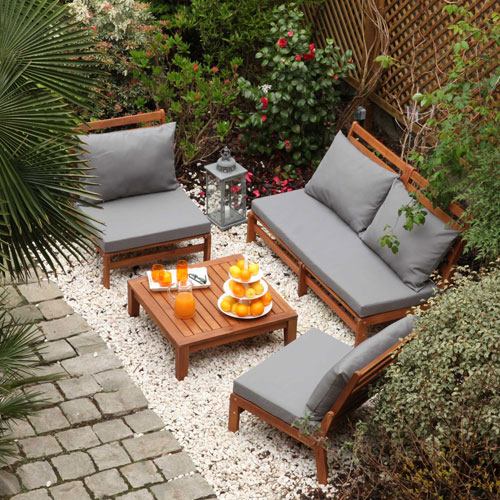 Salon de jardin Decoclico - Salon de jardin en acacia Riposo ...